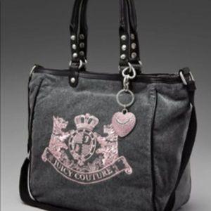 Juicy Couture Velour Tote Satchel Bag
